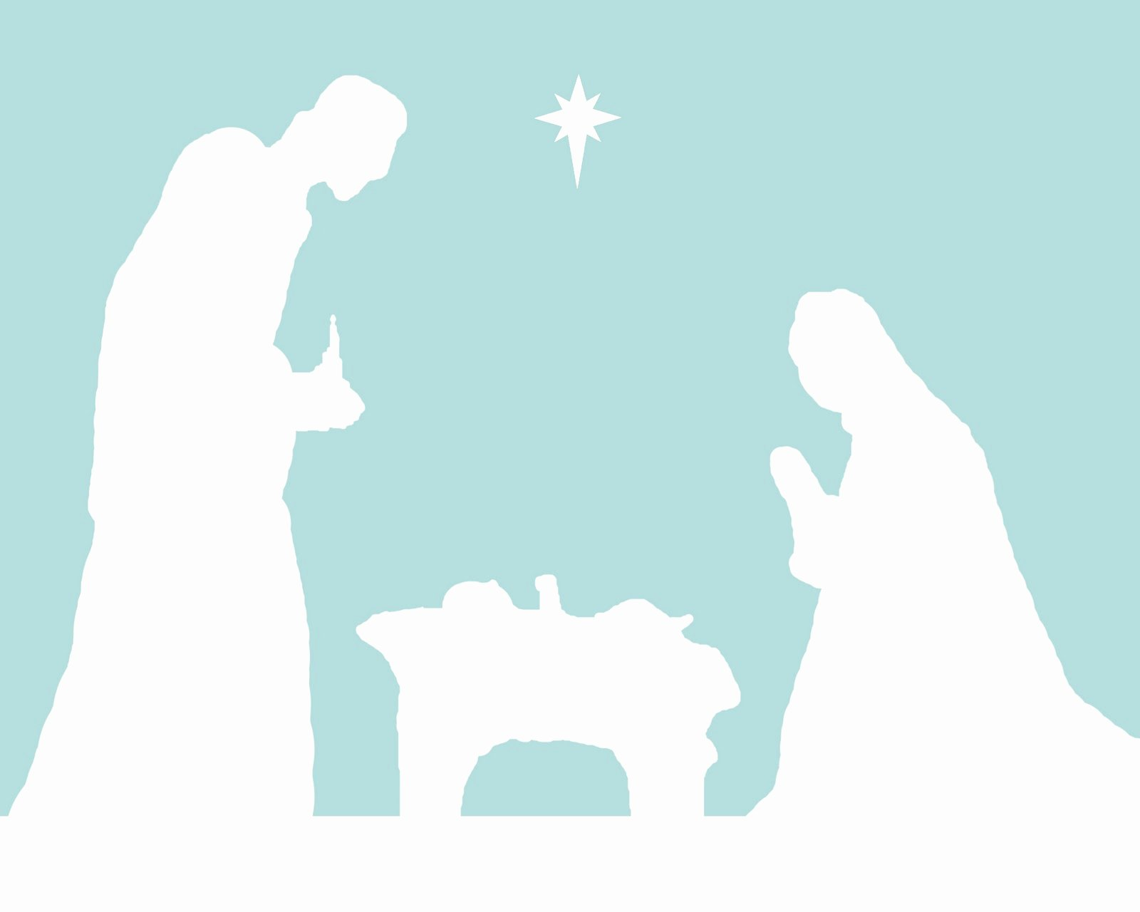 Free Printable Silhouette Of Nativity Scene New Peace In the Pandemonium December 2010