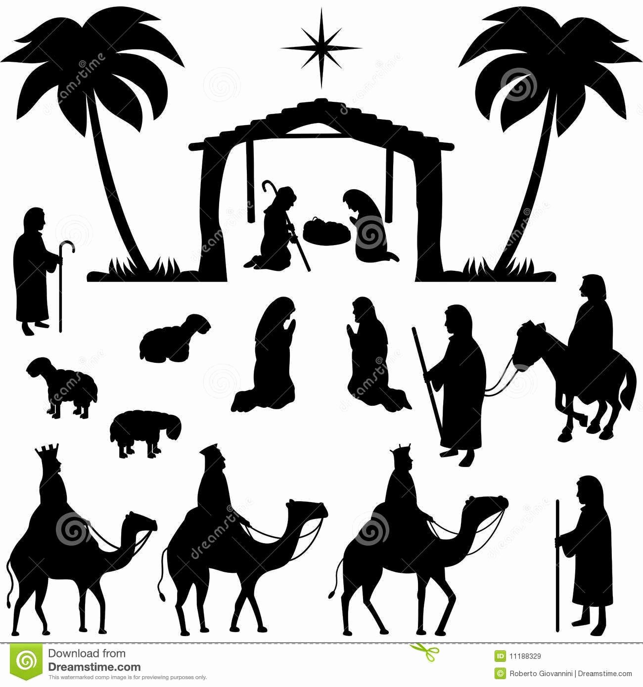 Free Printable Silhouette Of Nativity Scene Unique Io Sto Alla Porta A Busso