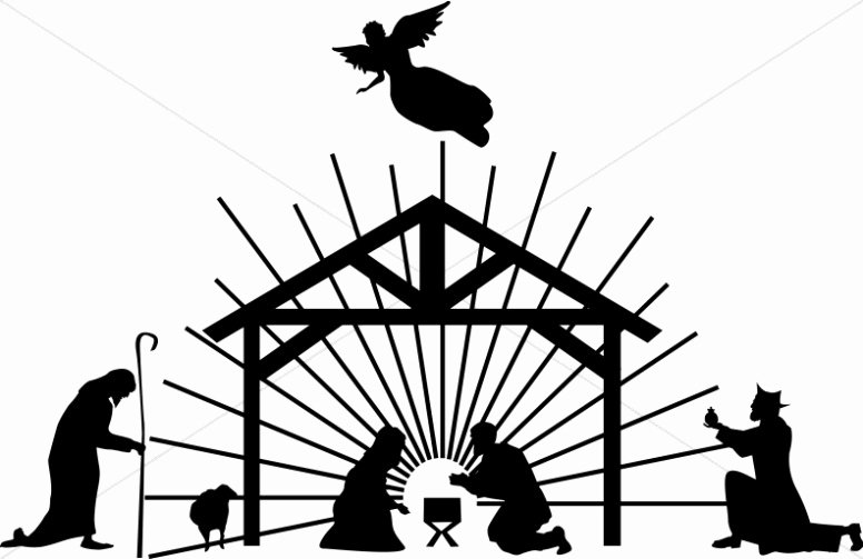 Free Printable Silhouette Of Nativity Scene Unique Nativity Silhouette Clipart