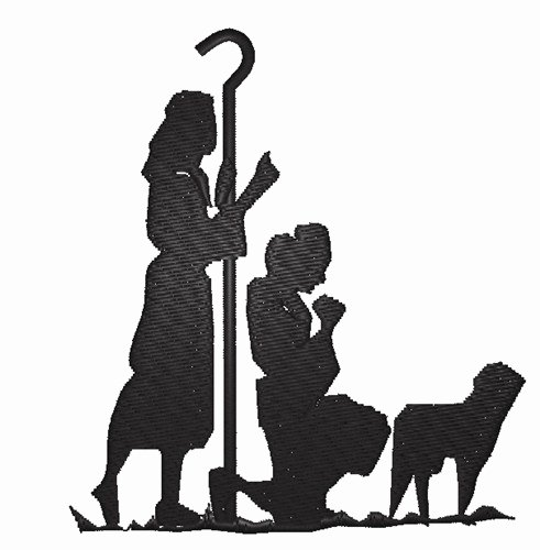 Free Printable Silhouette Of Nativity Scene Unique Nativity Silhouette Embroidery Design