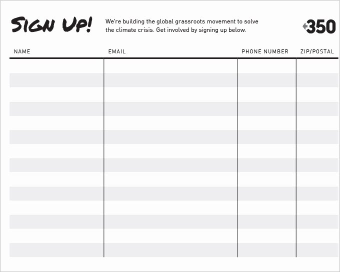 Free Printable Snack Sign Up Sheet Best Of Sign Up Sheets 58 Free Word Excel Pdf Documents