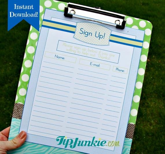 Free Printable Snack Sign Up Sheet Elegant 14 Sign Up Sheets Potluck Snack Church Sports School