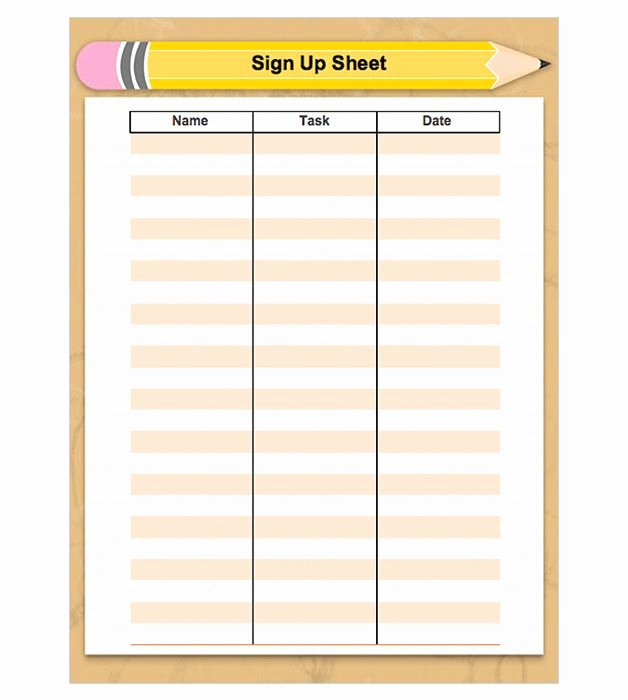 Free Printable Snack Sign Up Sheet New Back to School Sign Up Sheet Preschool