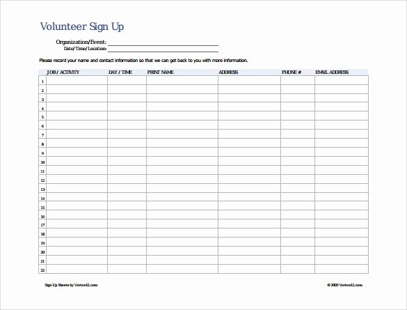 Free Printable Snack Sign Up Sheet New Sign Up Sheet Template 10 Free Samples Examples format