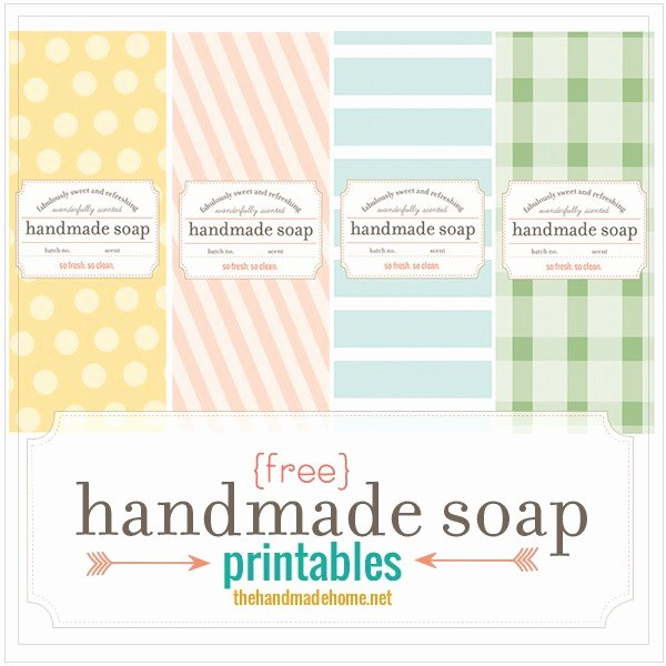 Free Printable soap Label Templates Awesome Make Your Own soap Our Fave Recipes Free Printables