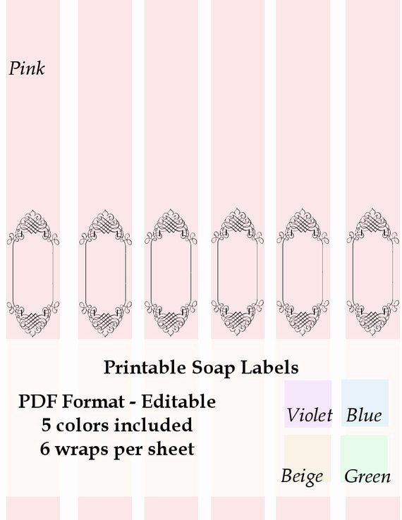 Free Printable soap Label Templates Beautiful Printable soap Labels Wraps Instant by
