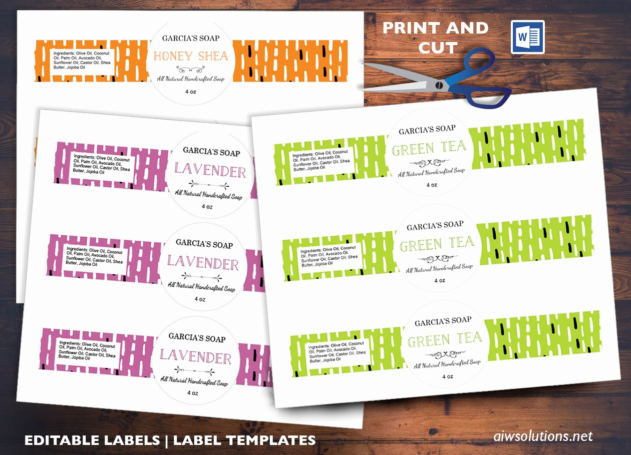 Free Printable soap Label Templates Elegant Edit Pint and Cut Sticker Template Editable Label Template