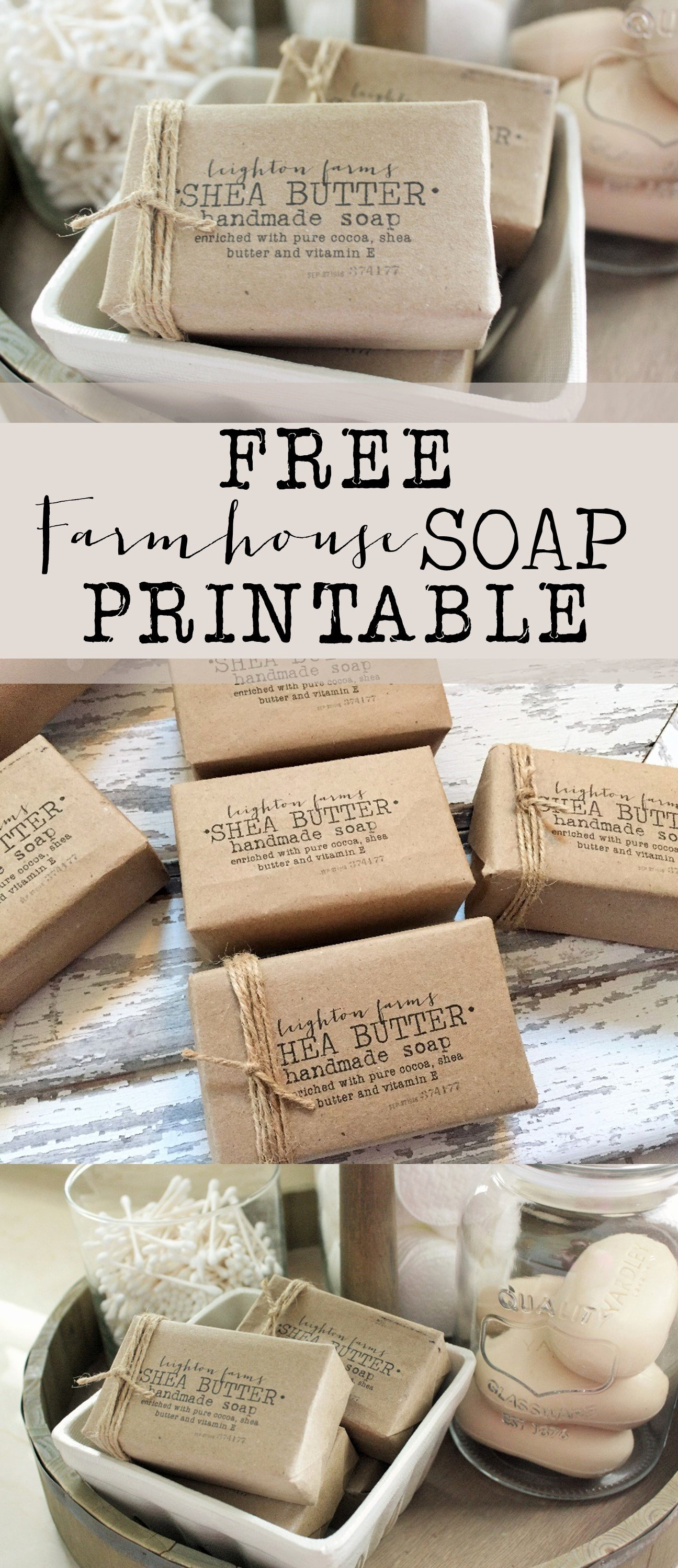 Free Printable soap Label Templates Lovely Free Farmhouse soap Printable House Of Hargrove