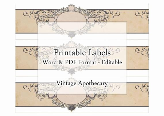 Free Printable soap Label Templates Lovely soap Labels Printable Apothecary Editable Label Band