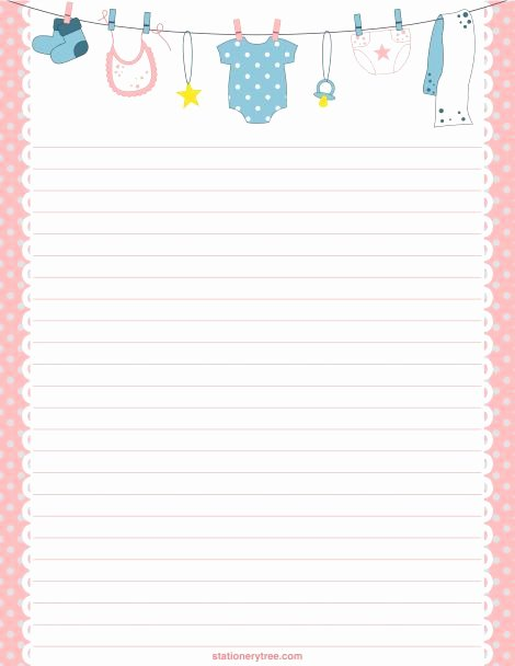 Free Printable Stationery Pdf Beautiful Printable Baby Stationery and Writing Paper Free Pdf