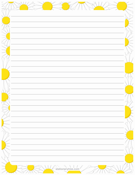 Free Printable Stationery Pdf Beautiful Printable Daisy Stationery