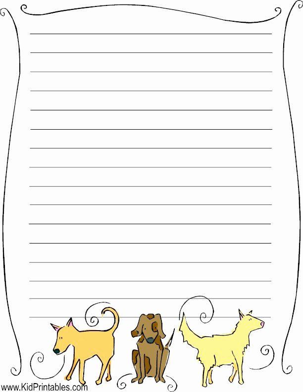 Free Printable Stationery Pdf Fresh Kid Printables Printable Dog Stationery