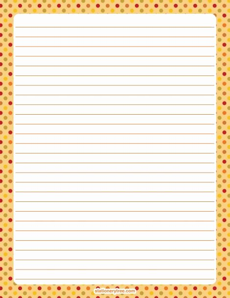 Free Printable Stationery Pdf Fresh Printable Fall Polka Dot Stationery and Writing Paper