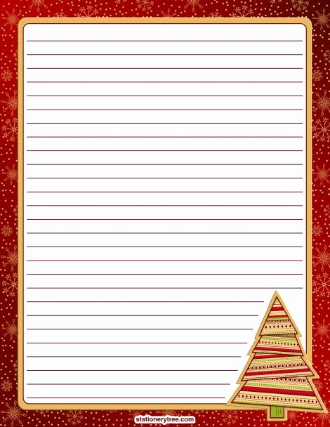 Free Printable Stationery Pdf Inspirational Printable Christmas Stationery and Writing Paper Free Pdf