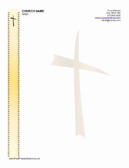 Free Printable Stationery Template Beautiful Free Church Letterhead Templates