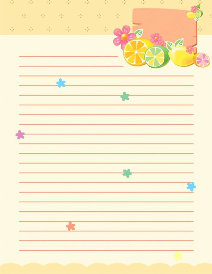 Free Printable Stationery Template Fresh Free School Writing Paper Template with Green Hearts and