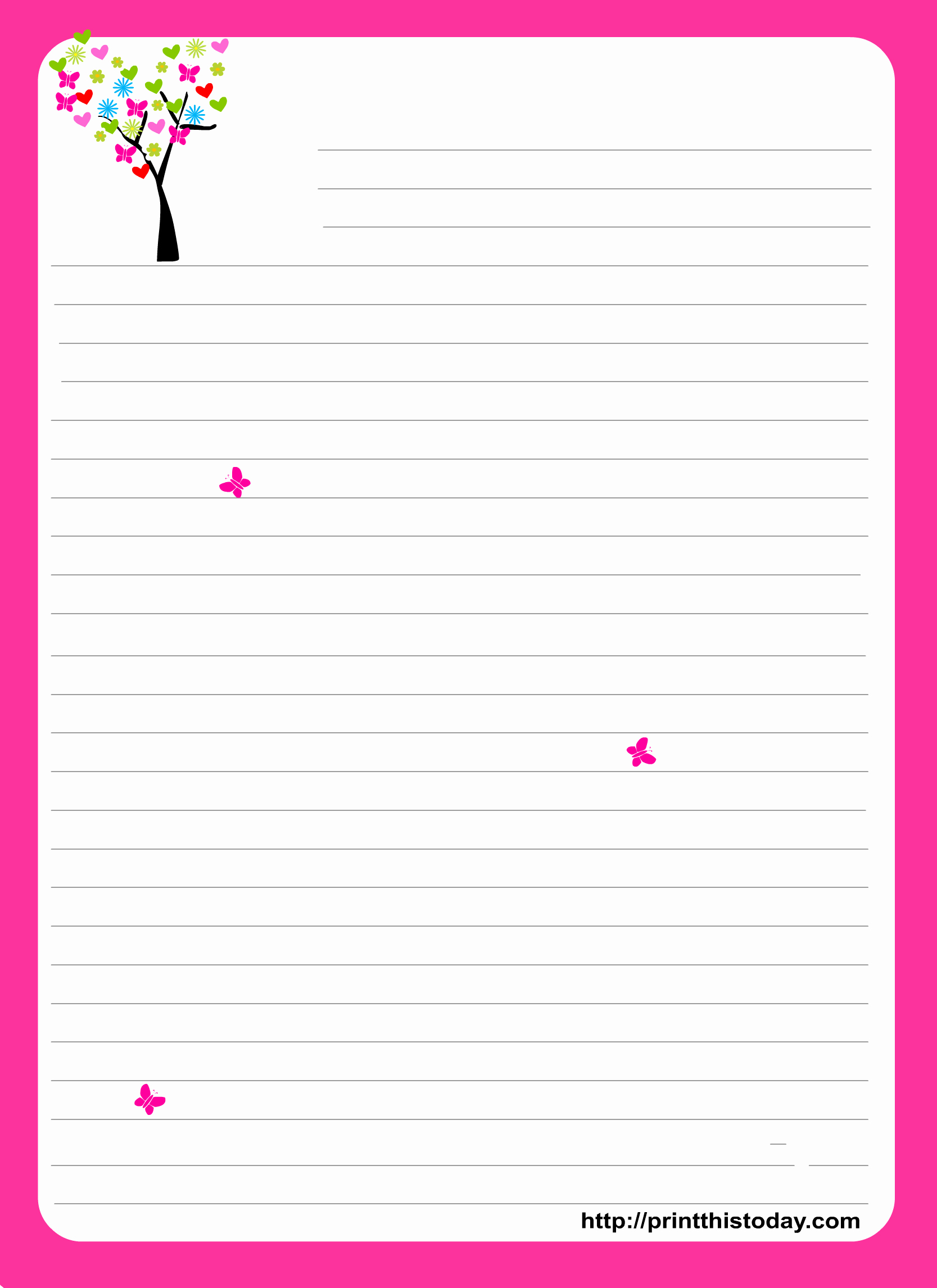 Free Printable Stationery Template New Love Letter Pad Stationery