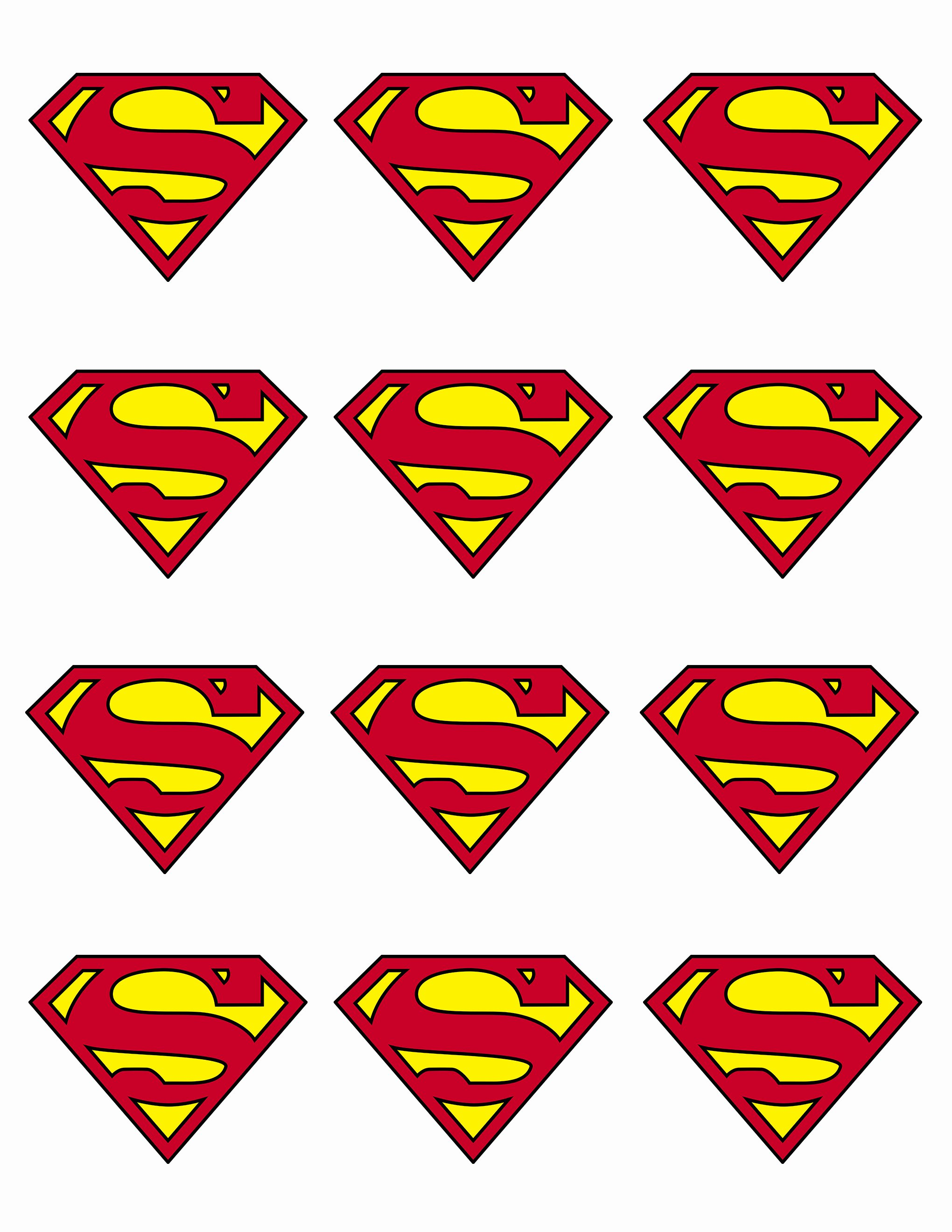 Free Printable Superman Template Beautiful Superman Cupcake topper Party Ideas