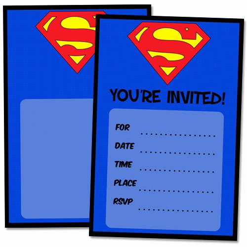 Free Printable Superman Template Elegant Free Printable Superman Birthday Invitations — Printable