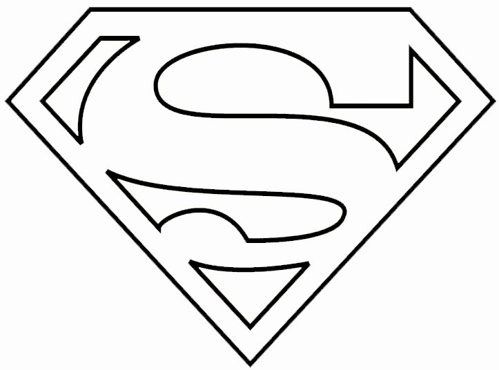 Free Printable Superman Template Elegant Superman Clipart Coloring Sheet Pencil and In Color