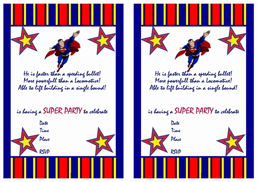 Free Printable Superman Template Lovely Superman Birthday Invitations – Birthday Printable