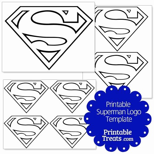 Free Printable Superman Template Luxury Printable Superman Logo Template From Printabletreats
