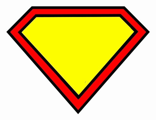 Free Printable Superman Template New Superman Logo Blank Superman Logo S