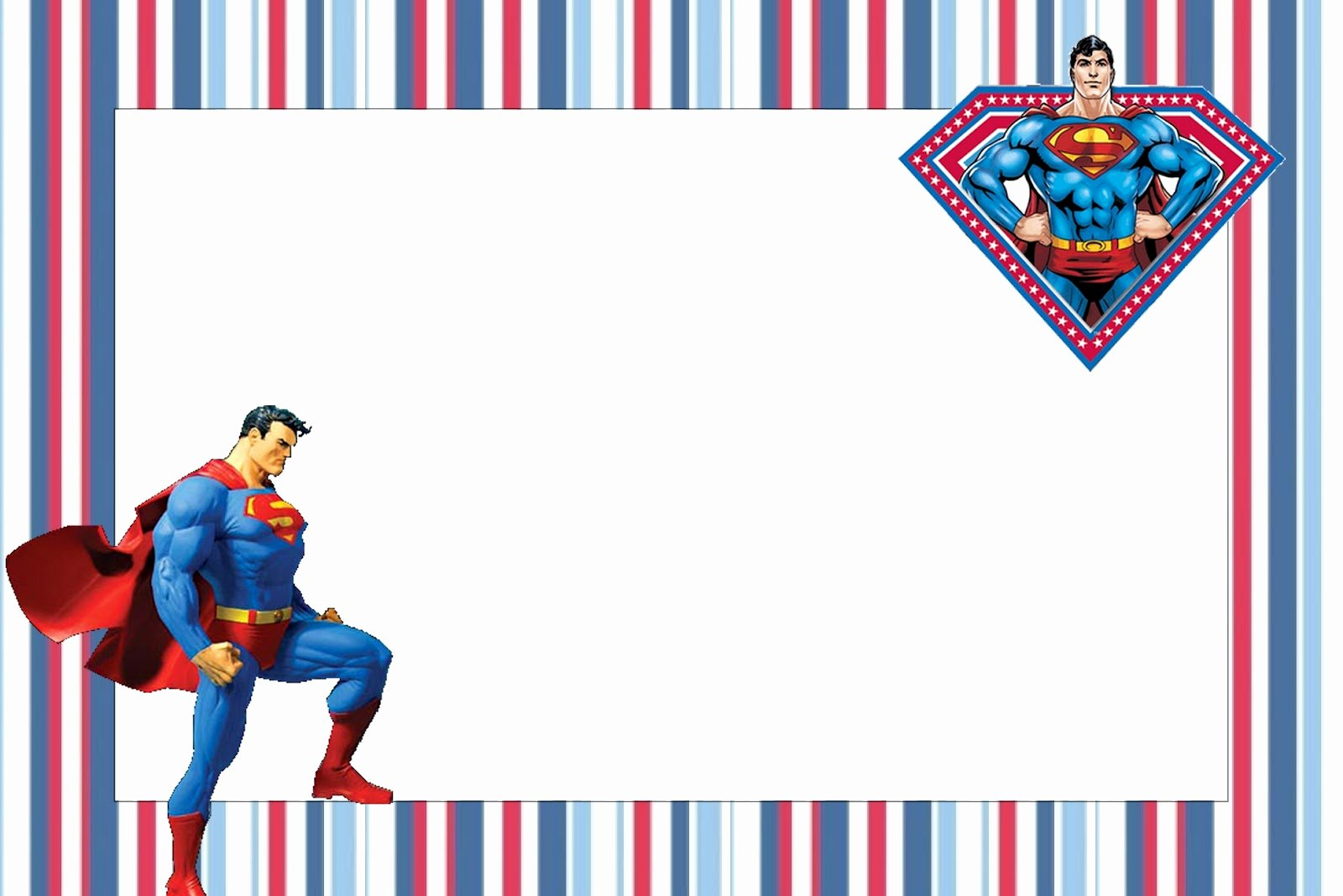 Free Printable Superman Template Unique Superman Free Printable Invitations