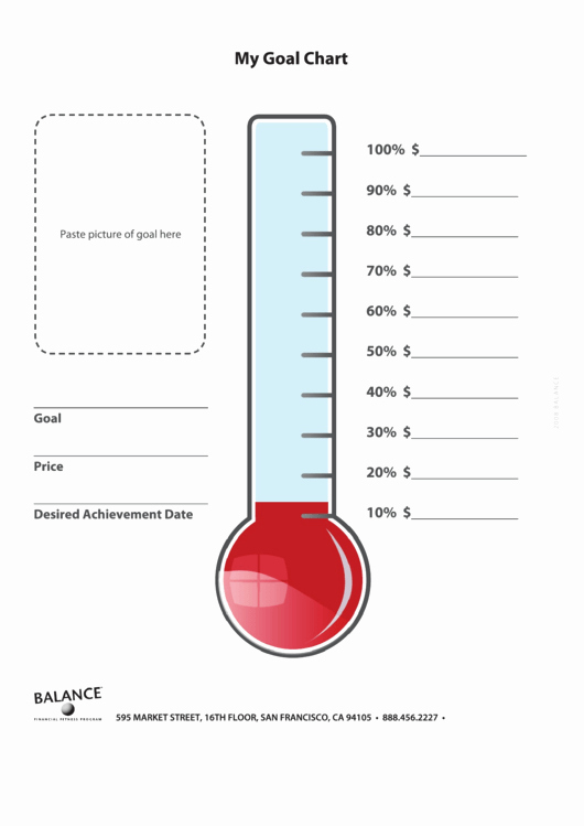 Free Printable thermometer Goal Chart Best Of top 8 Goal thermometer Templates Free to In Pdf
