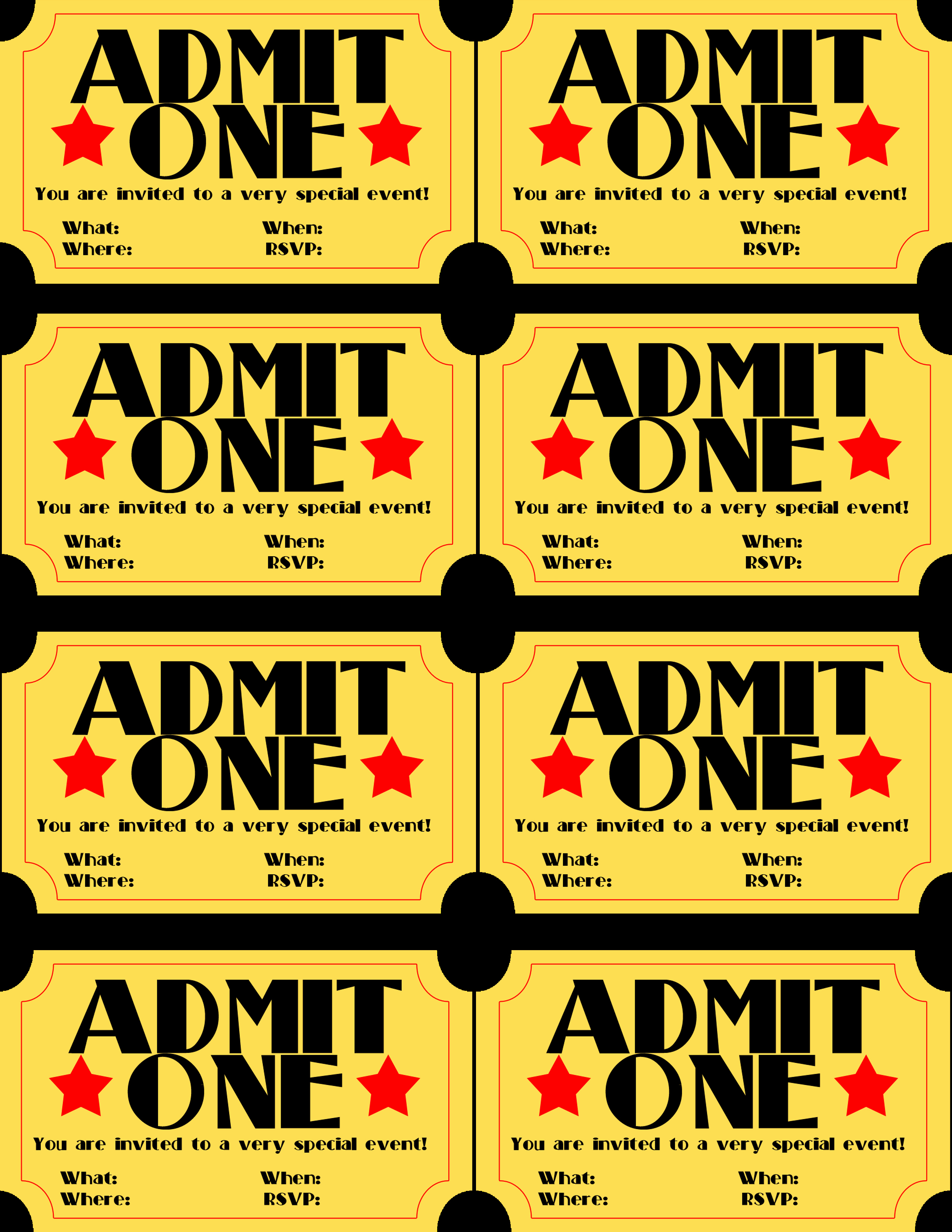 Free Printable Ticket Stub Template Unique Free Printable Invitation Movie Ticket Stub – Frugalful