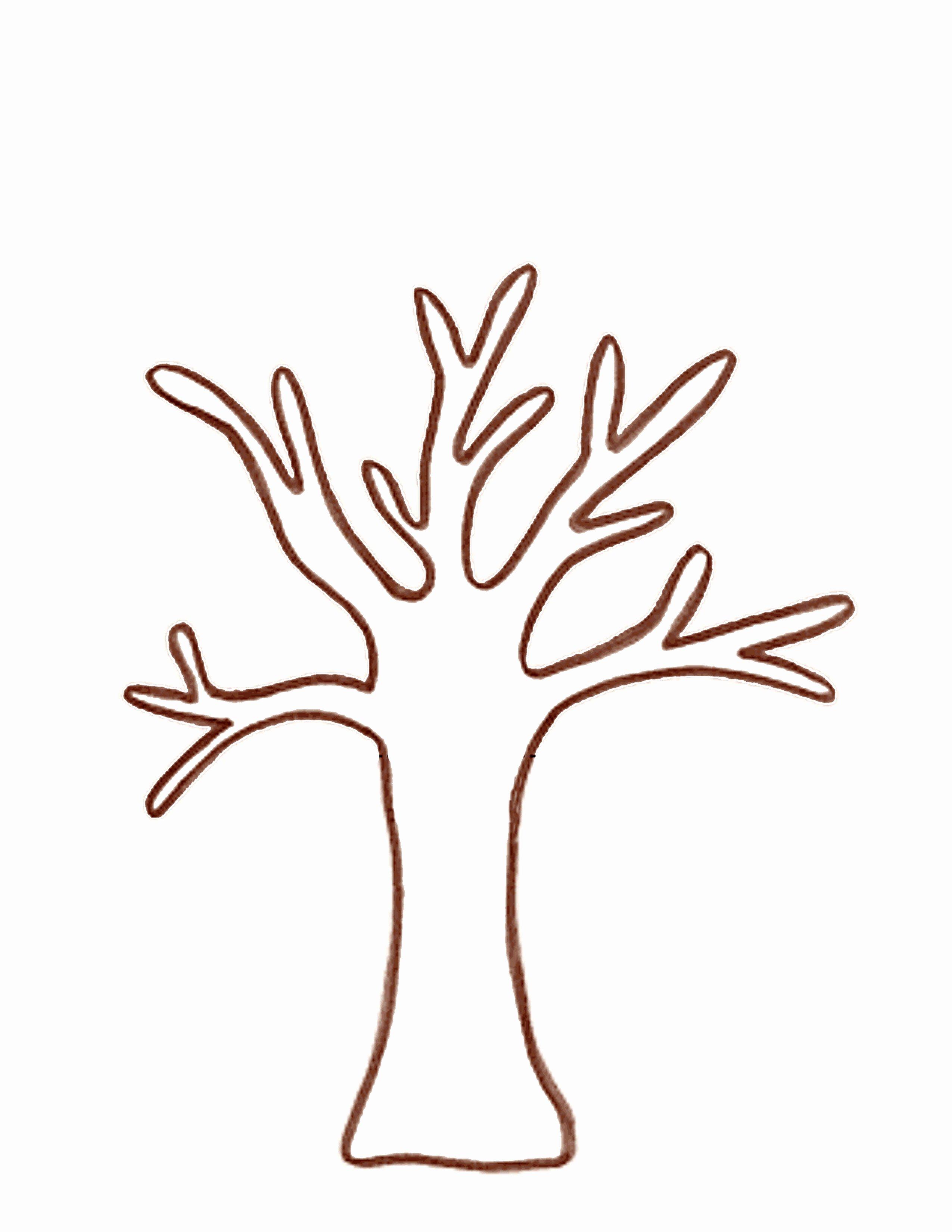 Free Printable Tree Template Beautiful 2014 Handprint Tree Template Nextinvitation Templates