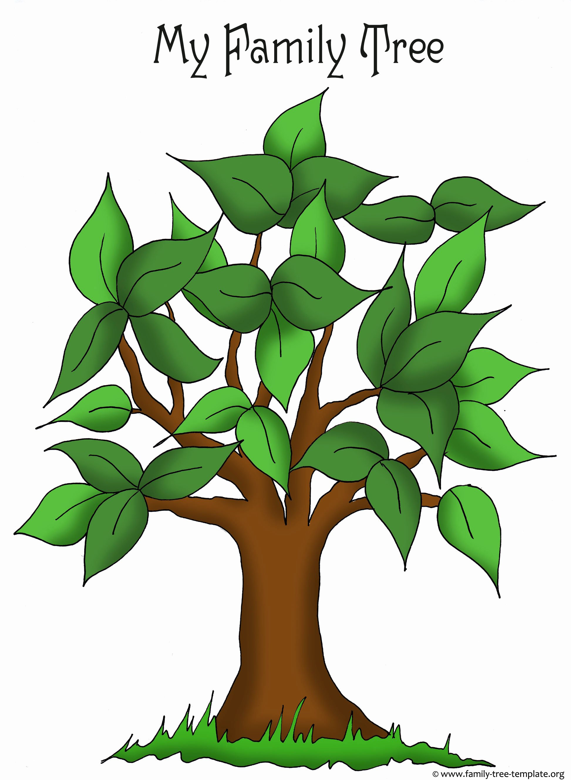Free Printable Tree Template Lovely Family Tree Templates & Genealogy Clipart for Your