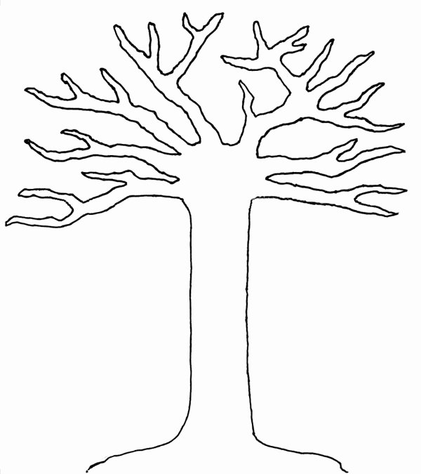 Free Printable Tree Template Lovely Free Coloring Pages Of Tree Trunk