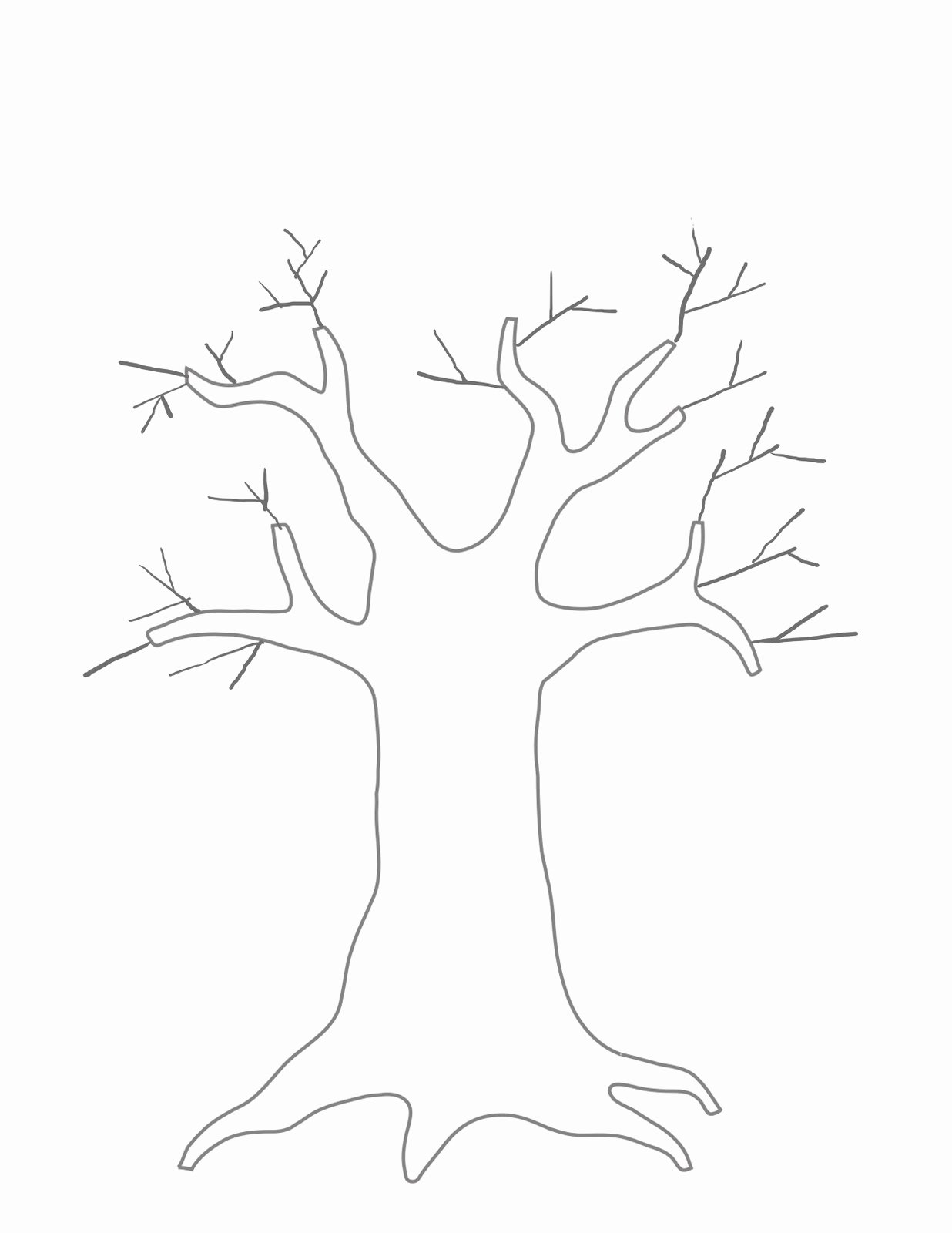 Free Printable Tree Template Lovely Jbs Inspiration Paper and Ink Kids Crafts