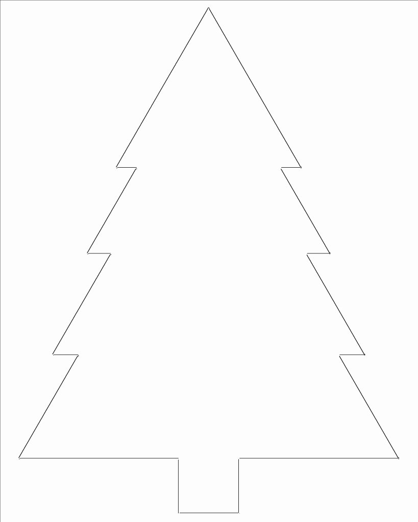 Free Printable Tree Template Luxury Free Printable Christmas Tree Templates