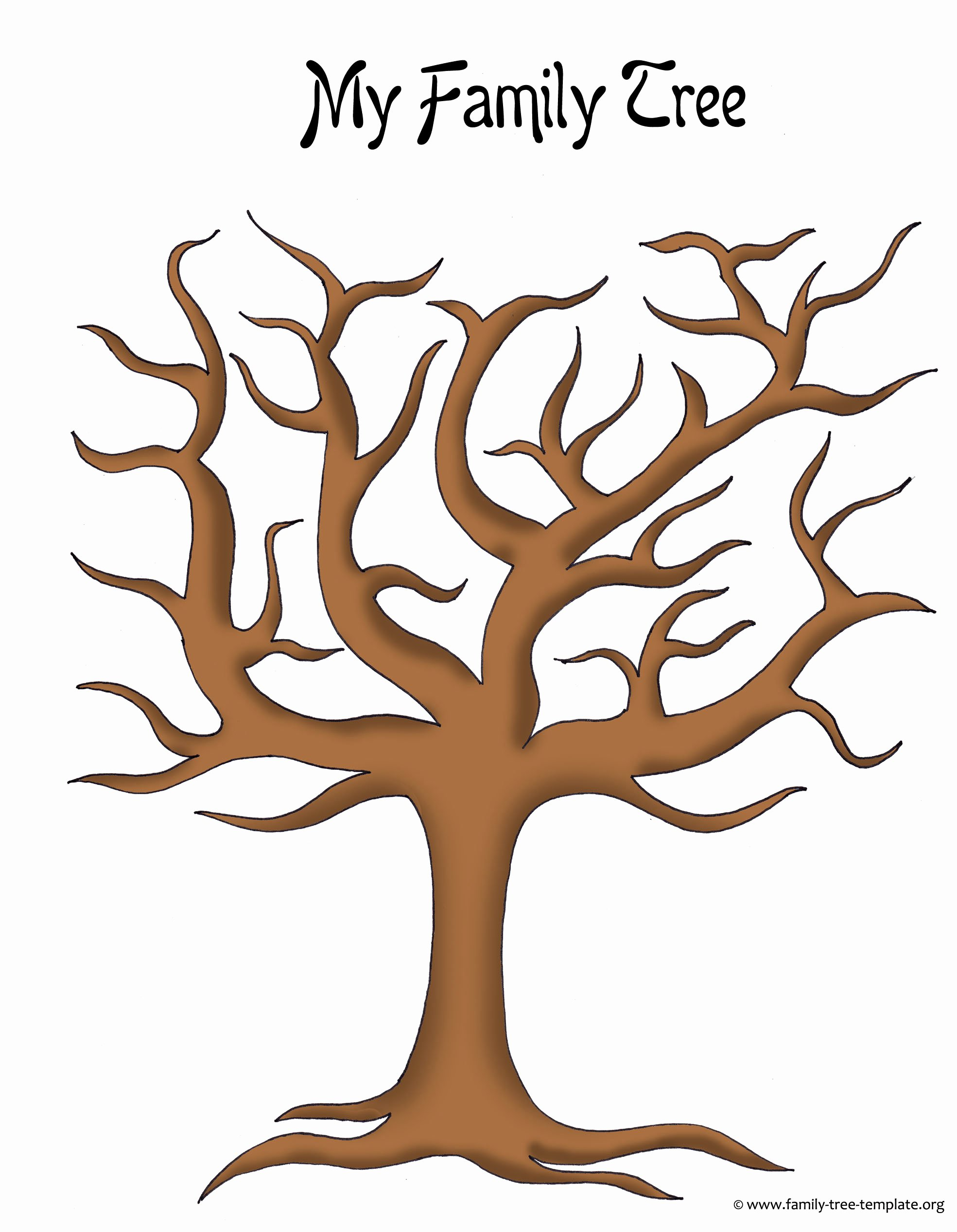 Free Printable Tree Template Luxury Make A Family Tree Easily with these Free Ancestry Charts