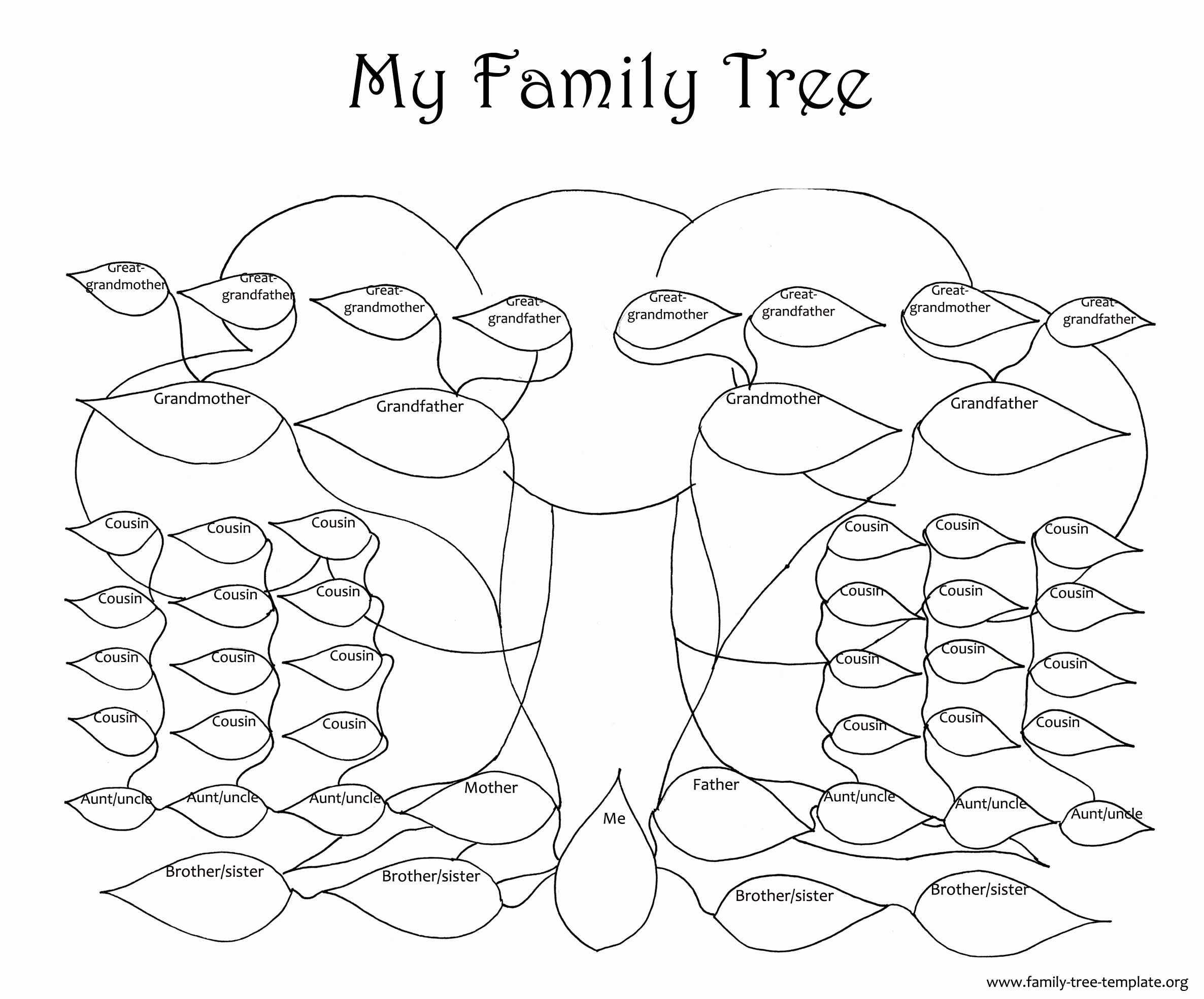Free Printable Tree Template New Family Tree Template Resources