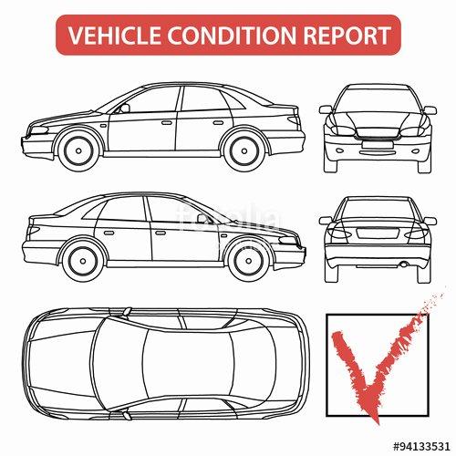 "Free Printable Vehicle Condition Report Template Beautiful ""vehicle Condition Report Car Checklist Auto Damage"
