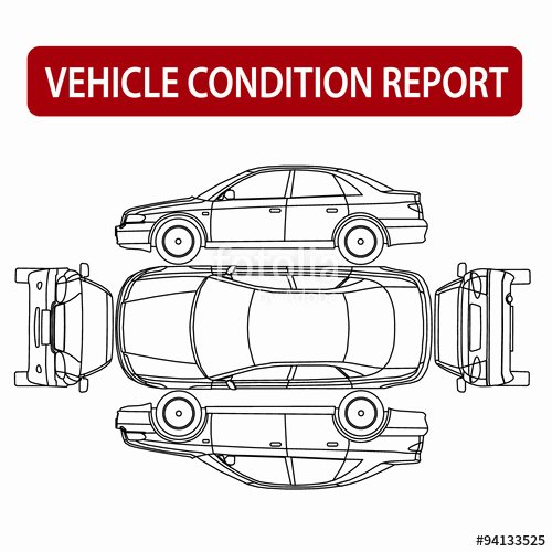 """Free Printable Vehicle Condition Report Template New """"car Condition Report Vehicle Checklist Auto Damage"""