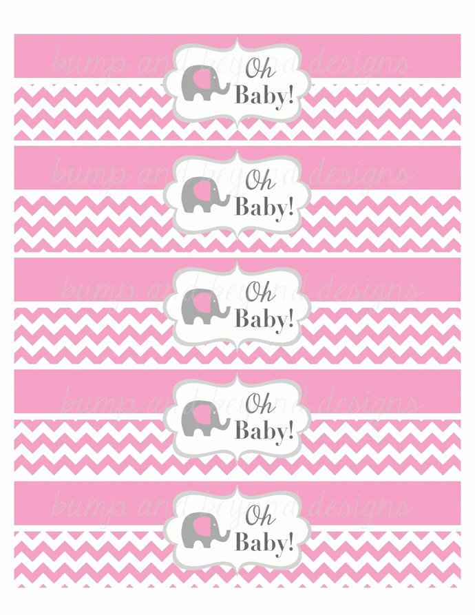 Free Printable Water Bottle Labels for Baby Shower Awesome Baby Shower Water Bottle Labels Gum