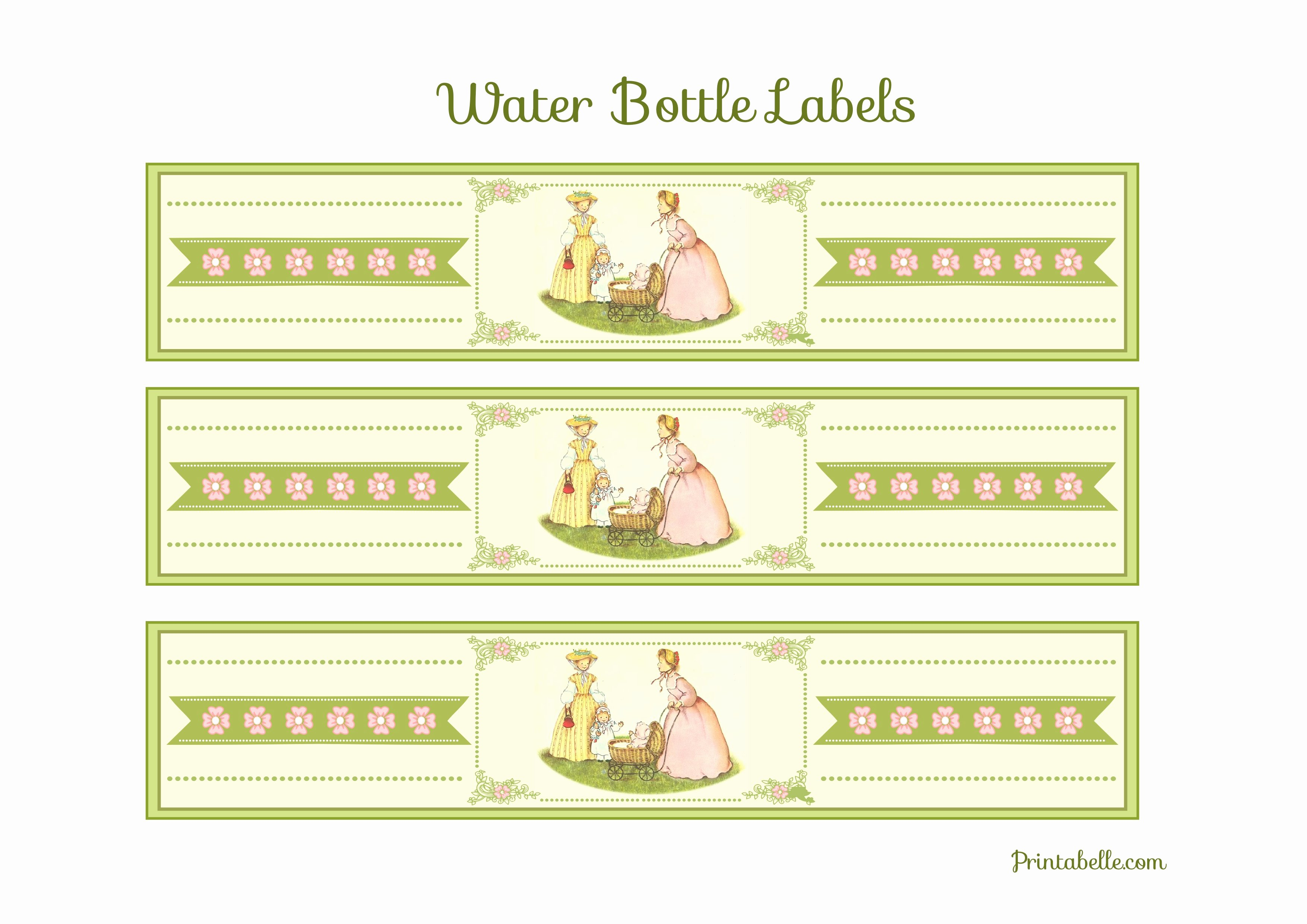 Free Printable Water Bottle Labels for Baby Shower Awesome Free Vintage Baby Shower Printables From Printabelle