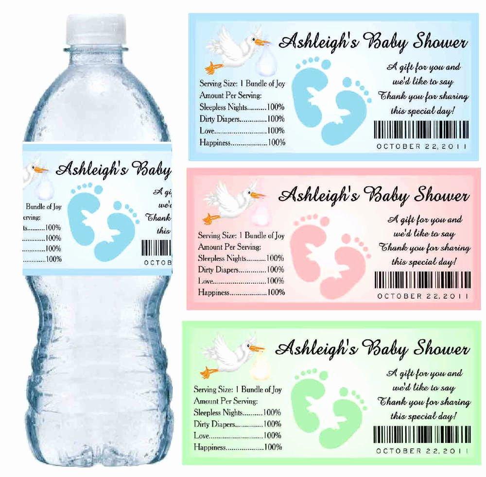 Free Printable Water Bottle Labels for Baby Shower Best Of 30 Baby Shower Water Bottle Labels Glossy Waterproof