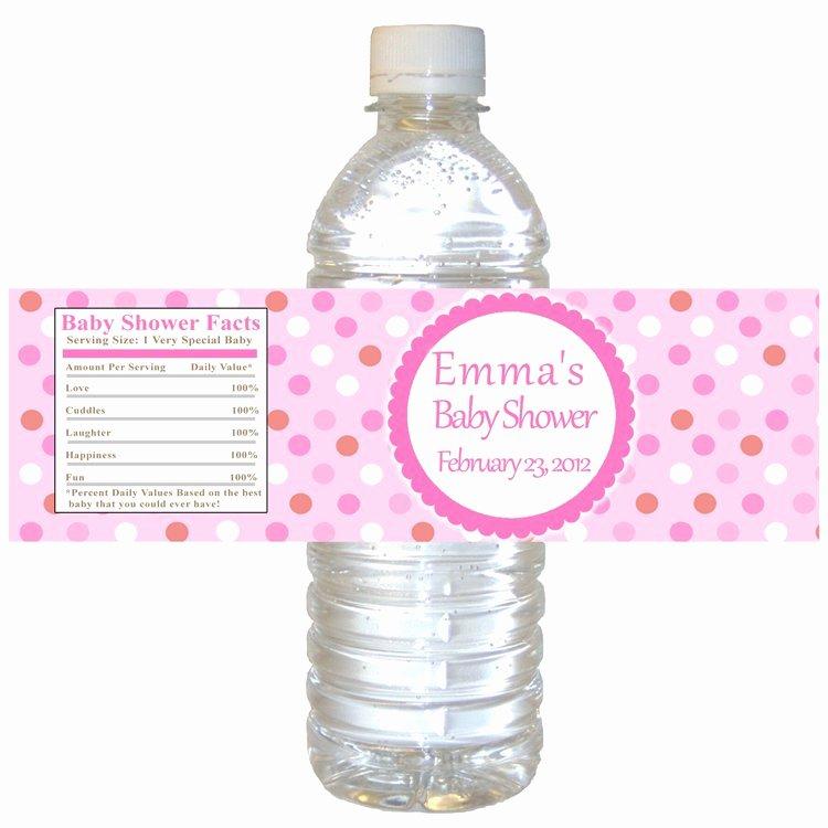Free Printable Water Bottle Labels for Baby Shower Elegant Printable Pink Polka Dots Water Bottle Labels Wrappers