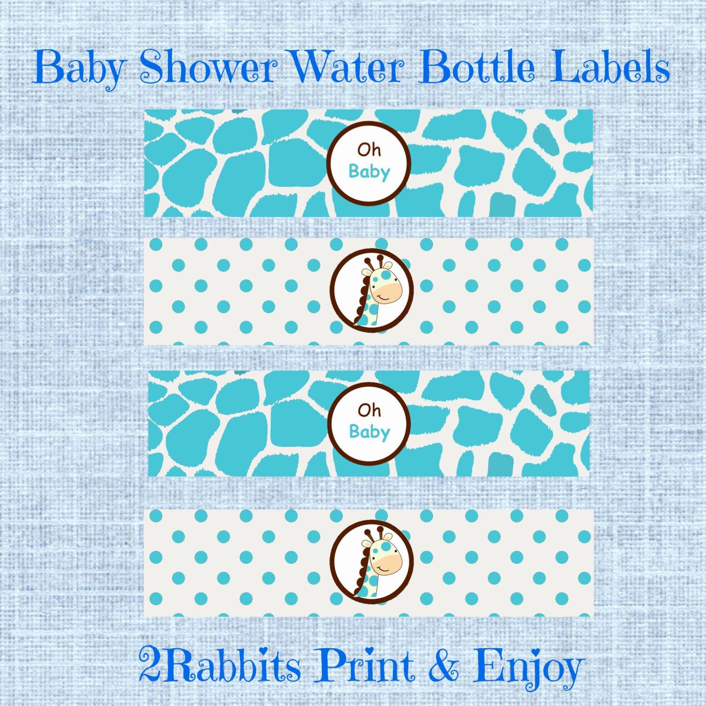 Free Printable Water Bottle Labels for Baby Shower Fresh Giraffe themed Baby Shower Water Bottle Labels Printable