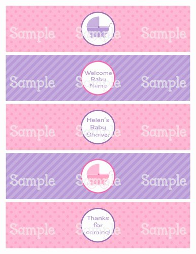Free Printable Water Bottle Labels for Baby Shower New Printable Baby Shower Water Bottle Labels Baby Shower