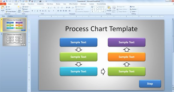 Free Process Map Template Lovely Free Simple Process Chart Template for Powerpoint
