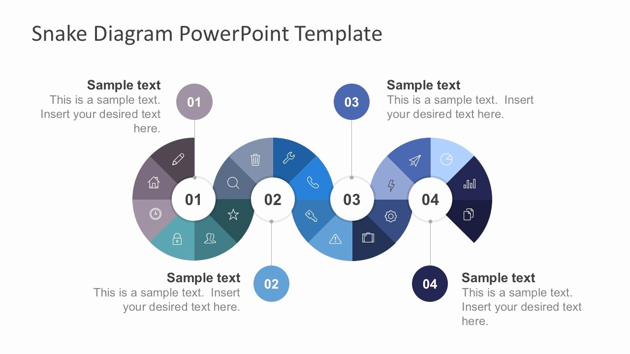Free Process Map Template Lovely Free Snake Diagram with Thin Icons Slidemodel