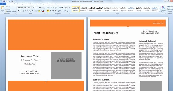 Free Proposal Template Word Awesome Modern Proposal Template for Microsoft Word