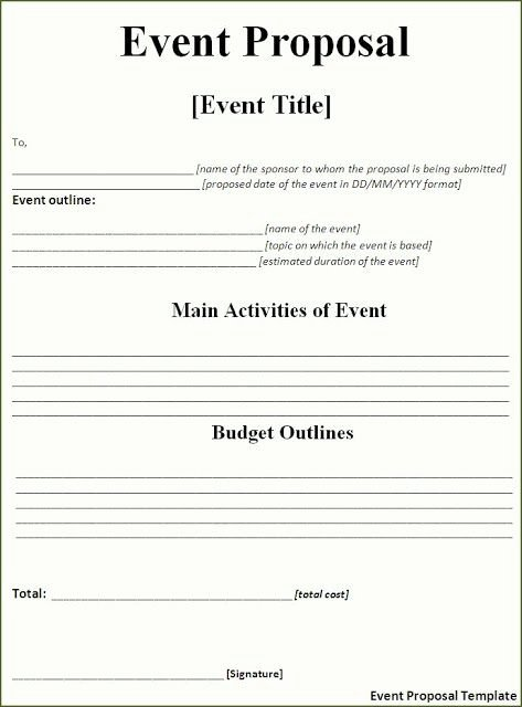 Free Proposal Templates for Word Beautiful event Proposal Template Free Download