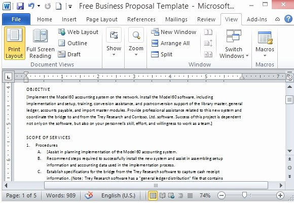 Free Proposal Templates for Word Beautiful Free Business Proposal Template for Microsoft Word